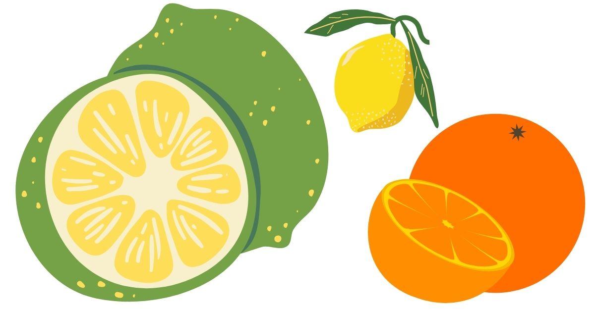 PH-värde i citrusfrukter