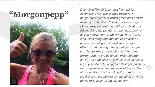Att ta en selfie - En skrivuppgift som kombinerar bild och text - Av Minna Wadman.