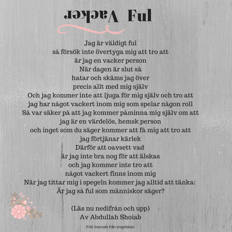 Baklängespoesi av Annika Sjödahl.