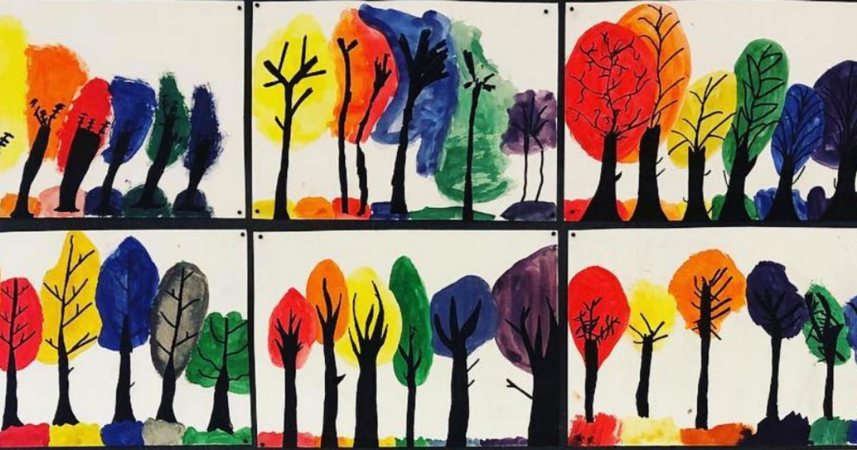 En bilduppgift för årskurs 1-3 med vattenfärg och svart tusch - Av Sonja Stankovich