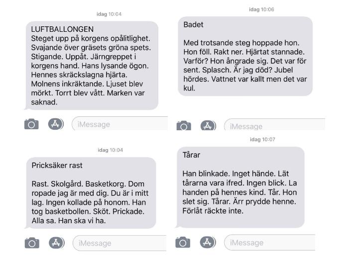 Mikronoveller - En skrividé av Malin Larsson