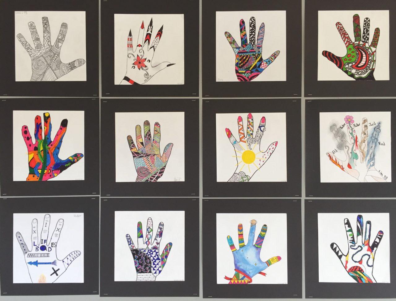 Bilduppgift för åk 4-6 och 7-9 med mönster och händer