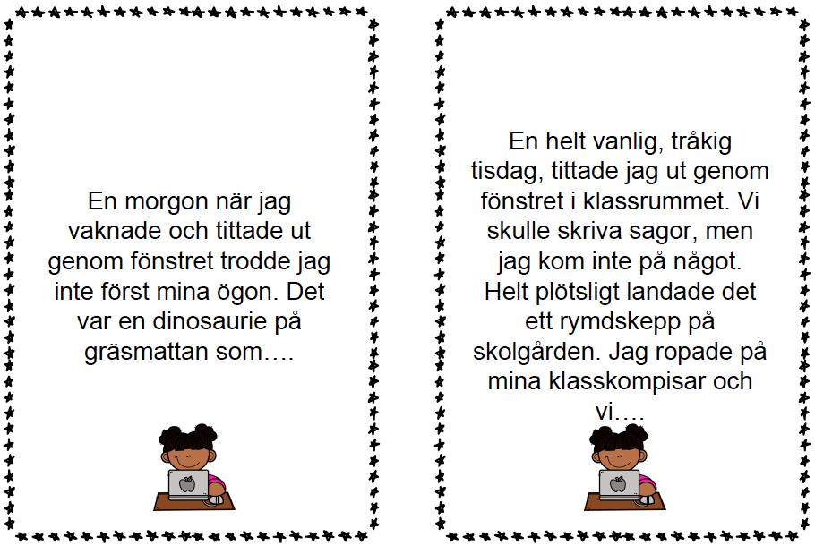 Clara Höglund skrividéer för årskurs 1-3