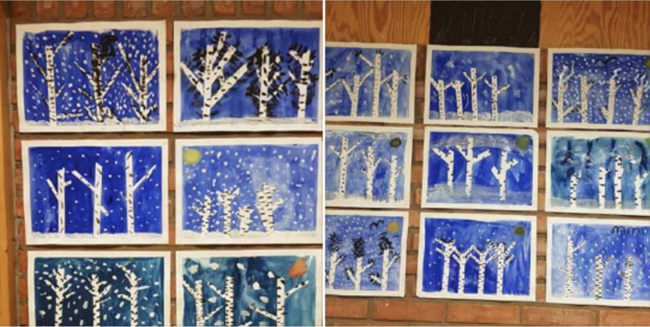 En bilduppgift för årskurs 1-3 - Vinterträd av Elisabeth Brännmark