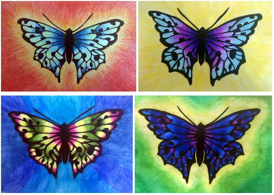 Carola Garpefält - En bildidé för högstadiet - Att teckna fjärilar