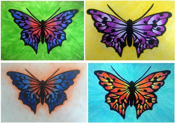 Carola Garpefält En bildidé för högstadiet - Att teckna fjärilar