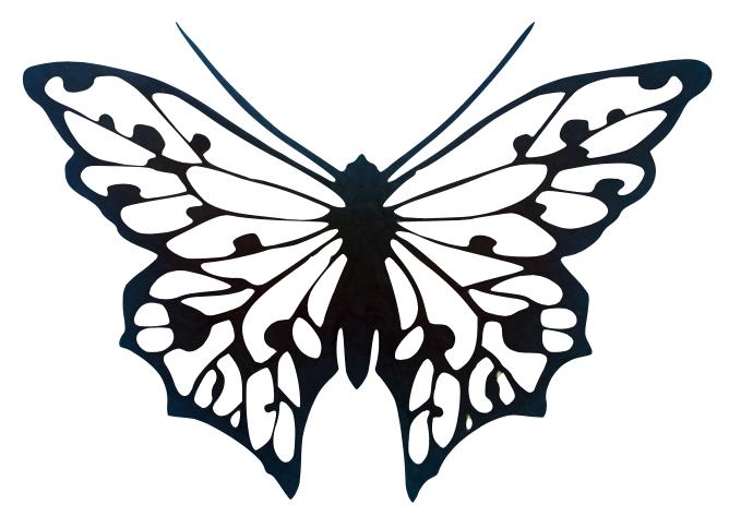 Mall Att teckna en fjäril av Carola Garpefält