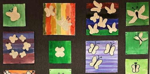 En bilduppgift där olika material kombineras - För årskurs 1-3 av Sonjas kreativa kaos