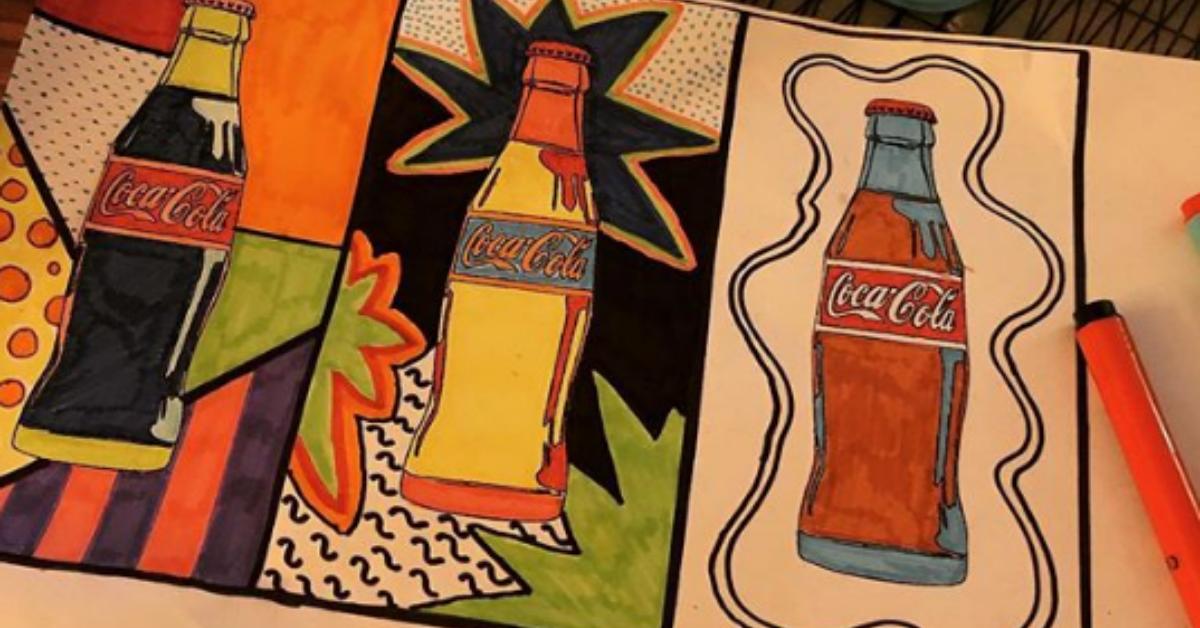 Måla coca cola-flaskor som Andy Warhol