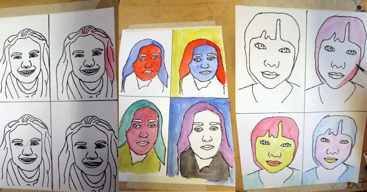 Popart självporträtt