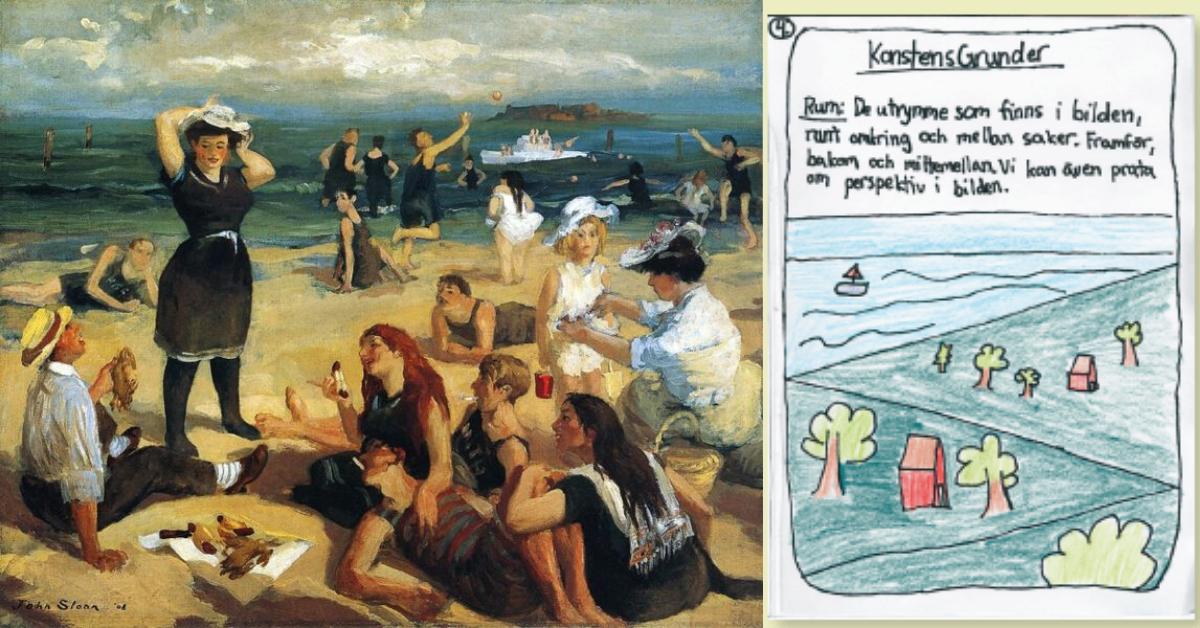 Att träna rita rum och perspektiv - konstens grunder - med elever på låg- och mellanstadiet