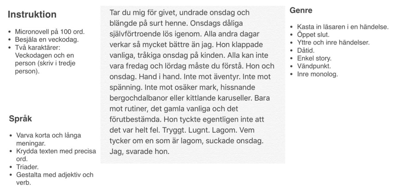 Levandegöra en veckodag instruktioner av Malin Larsson