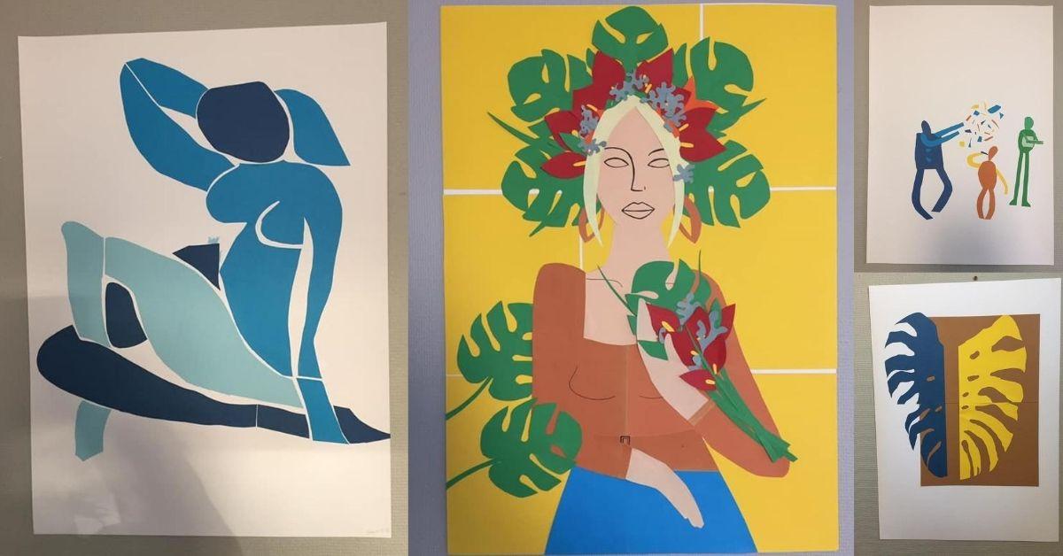 Måla som Matisse i skolan - Klipp och klistra
