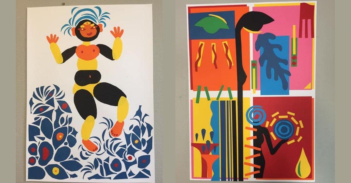 Måla som Henri Matisse i skolan